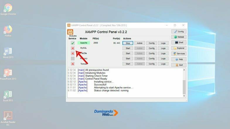 Ejecutar MySQL en XAMPP
