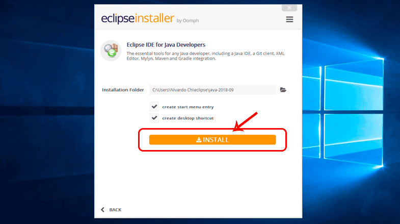 Instalar el IDE Eclipse Photon para Java